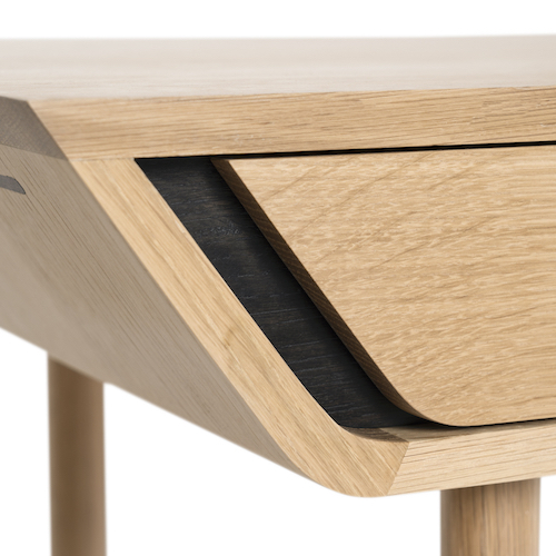 DND Studio desk - Subtle curves and striking contrasts make this desk stand out.