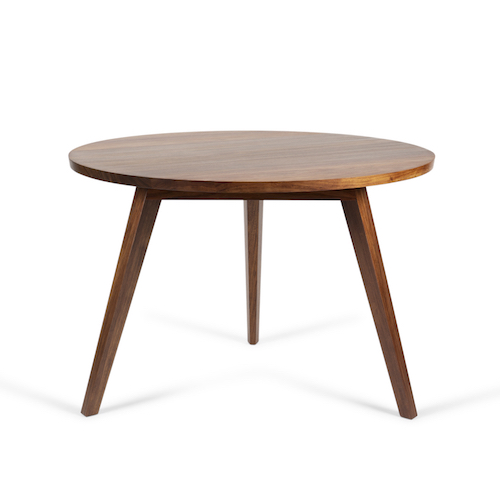 Round Blackwood Dining Table - Simple, elegant and functional. And the timber is gorgeous.