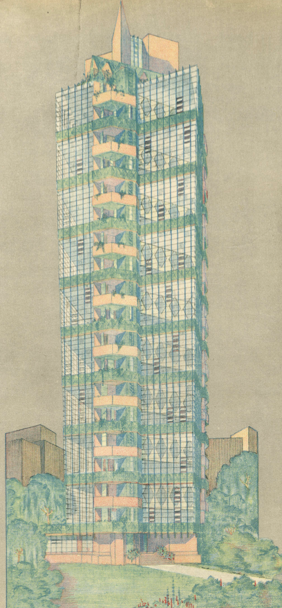 St. Mark's Tower published in  Architectural Record , January 1930.