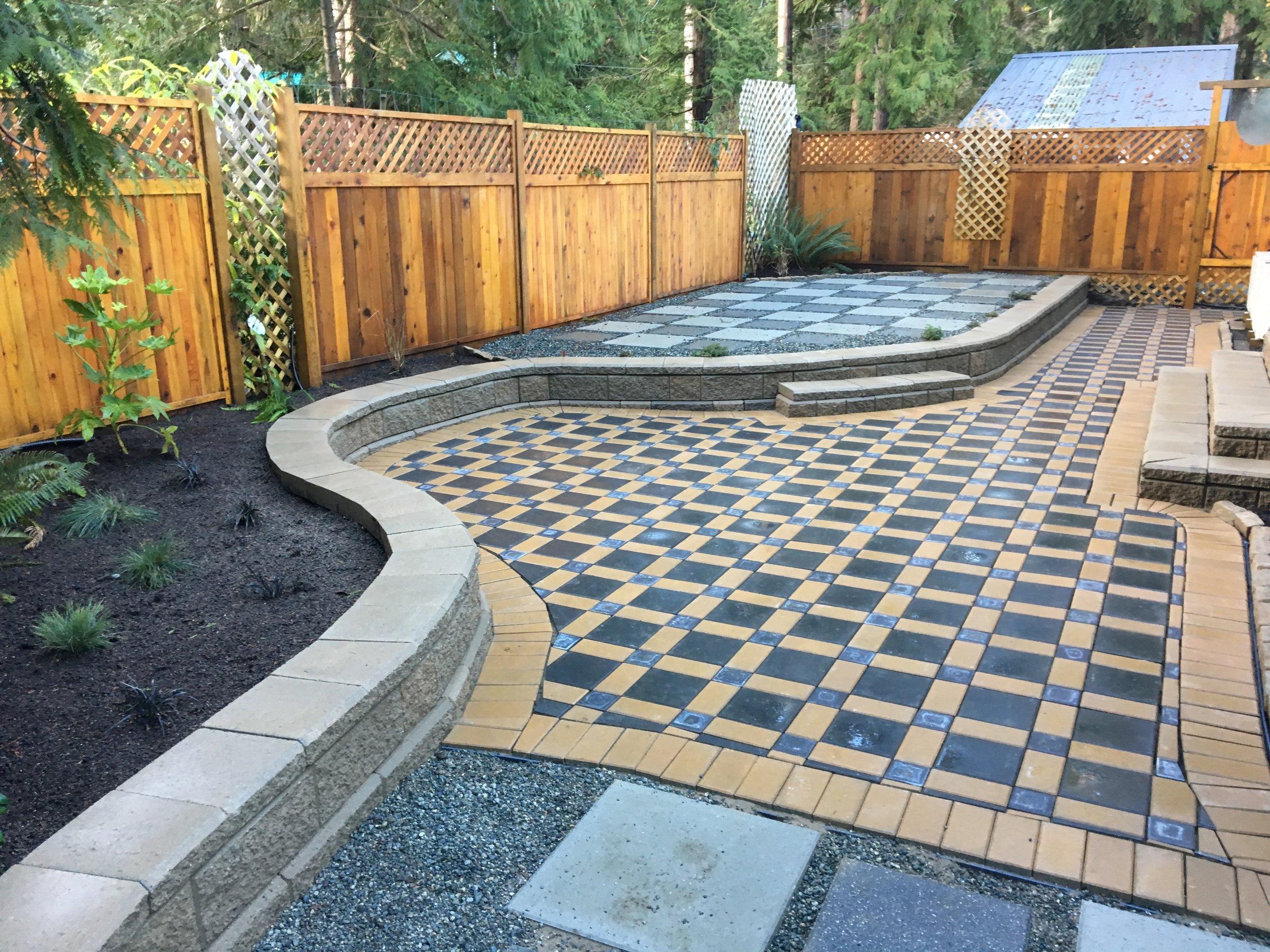long allan block wall - jinglepot landscaping and irrigation