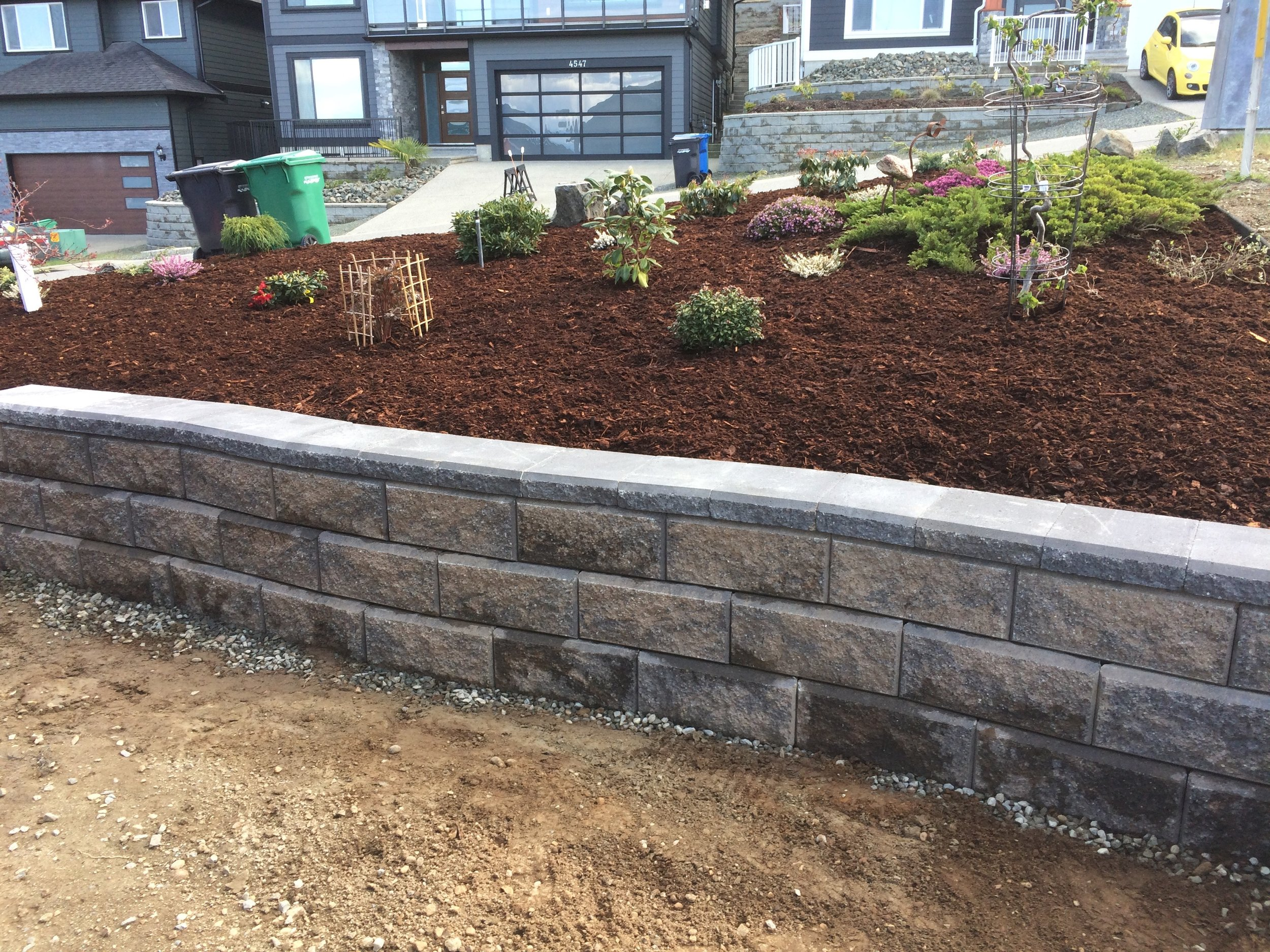 Landscaping Projects | Nanaimo. TWO SMALL RETAINING WALLS