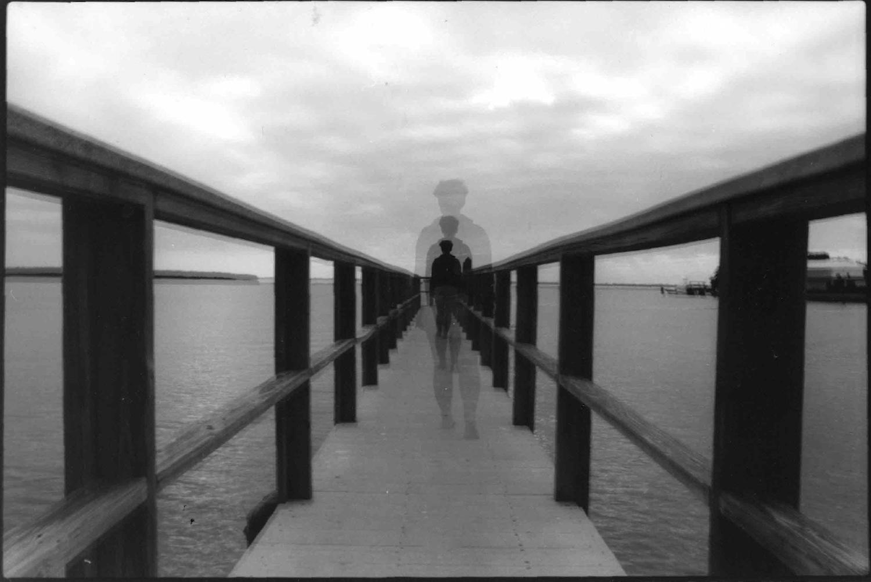 Ghost Pier, Triple Exposure, Silver Gelatin Print
