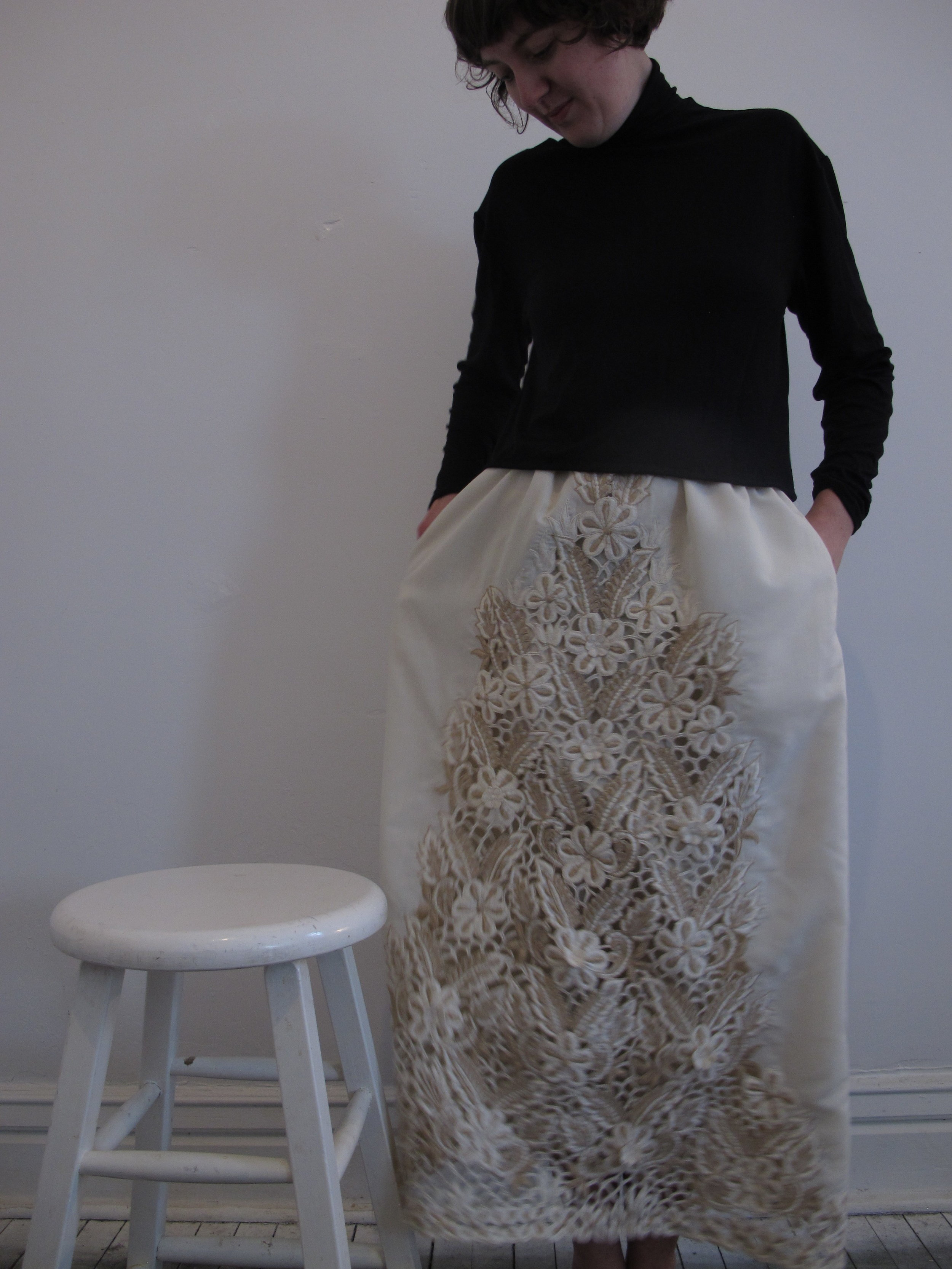 Turtle Neck & Skirt