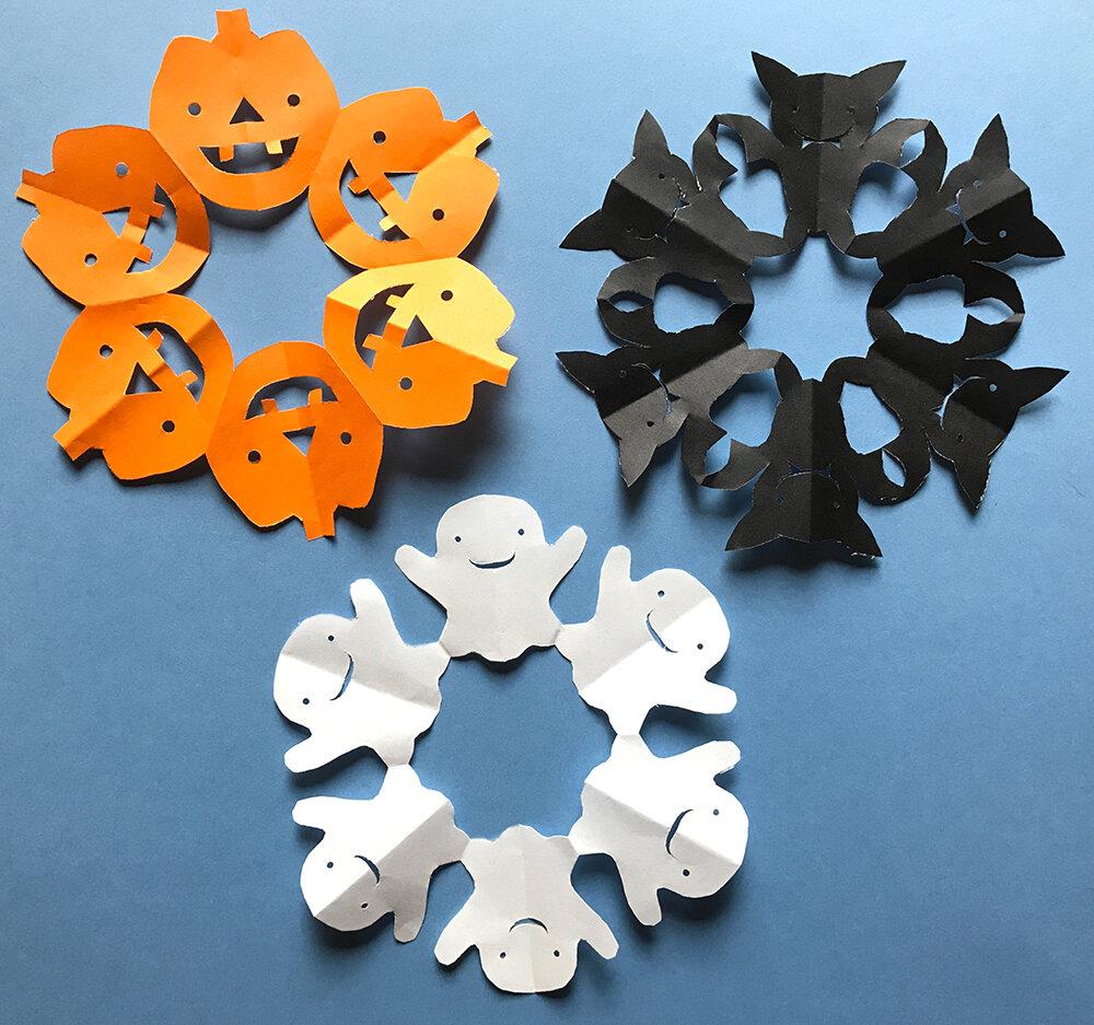 Halloween Paper Snowflakes