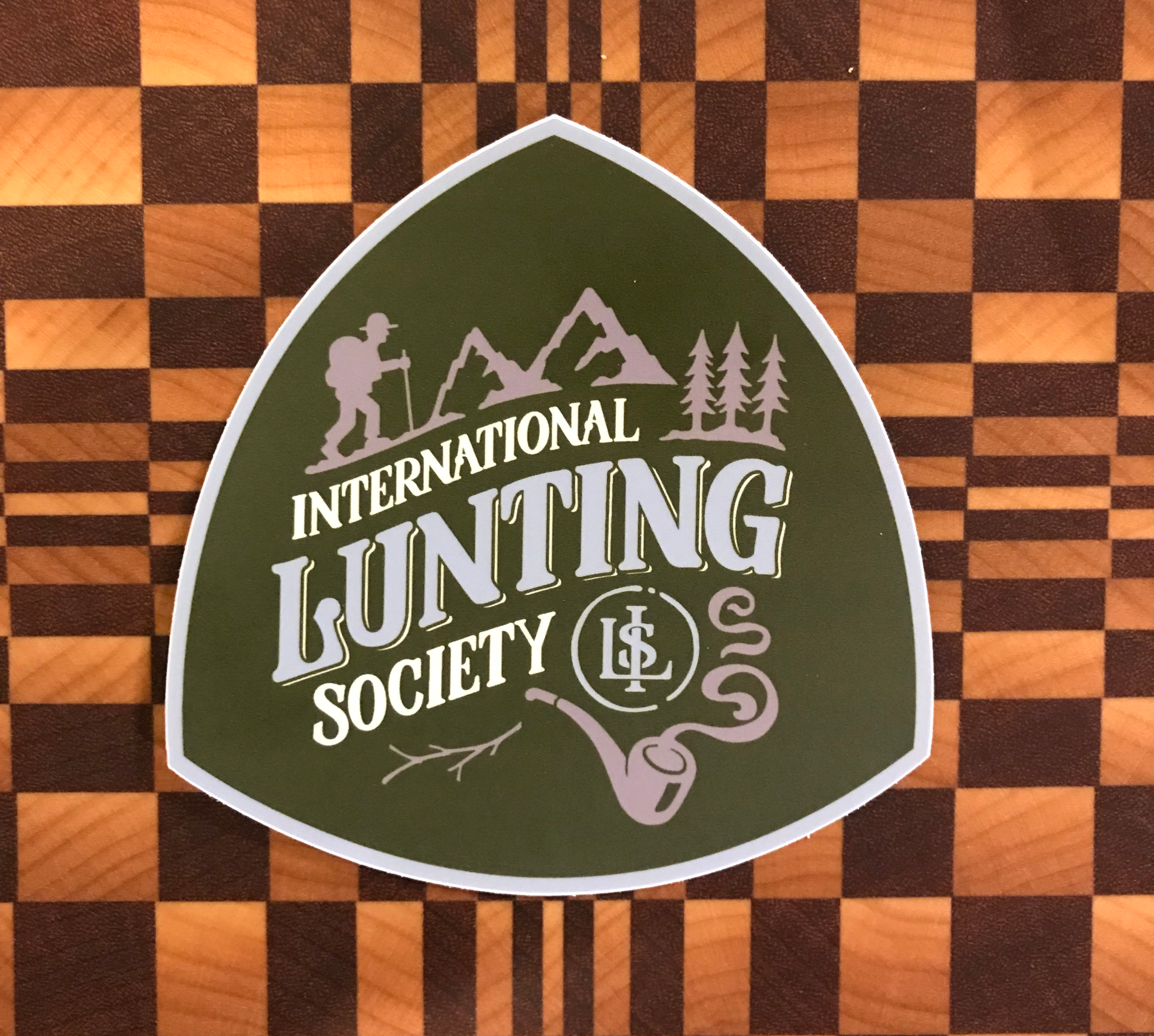 Society Collectible Sticker - $3.00 each (Free when you join at the Lunter level)