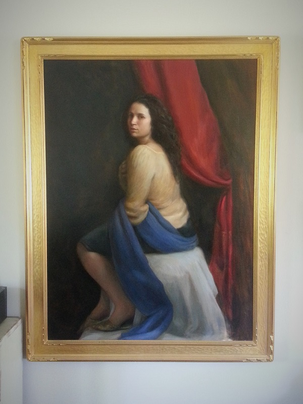 """Lucretia"" 53""x 48"" in frame."