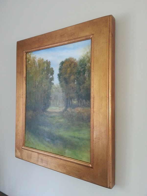 """September Pastoral l"" 22""x 26""x 2.5"" (deep) in frame."