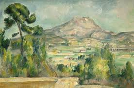 A watercolor by Cezanne