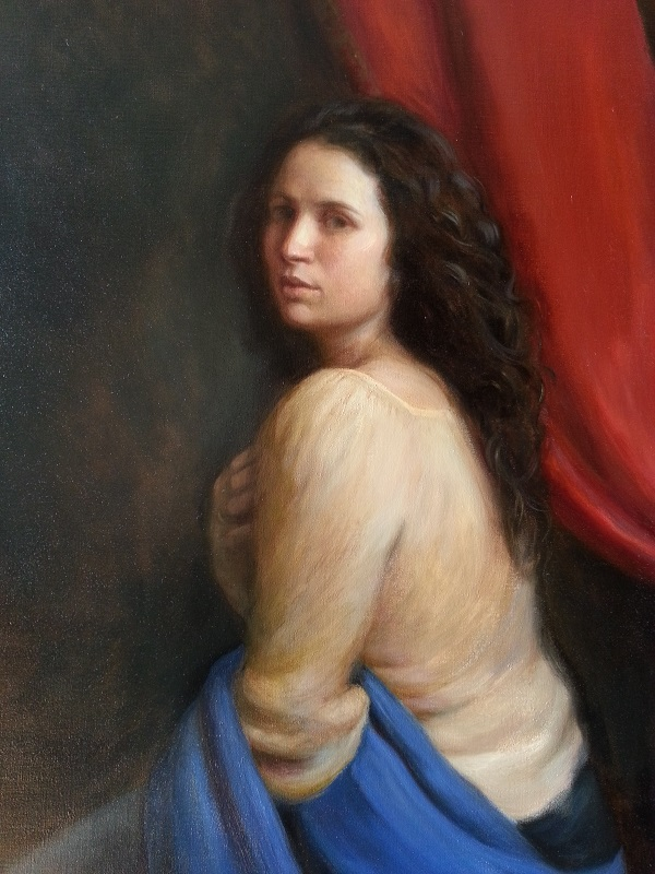 """Detail of """"Allegory"""" or """"Lucretia"""" by Thimgan Hayden (click for full view)"""