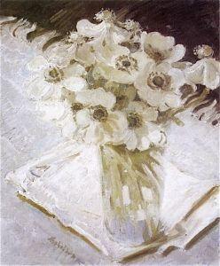 """""""White Anemones"""" 1926 by Sir William Nicholson"""