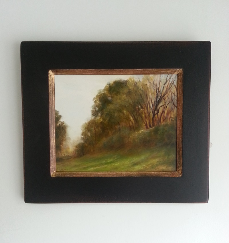 """Grassy Slope"" 12.5""x 14.5"" in frame."
