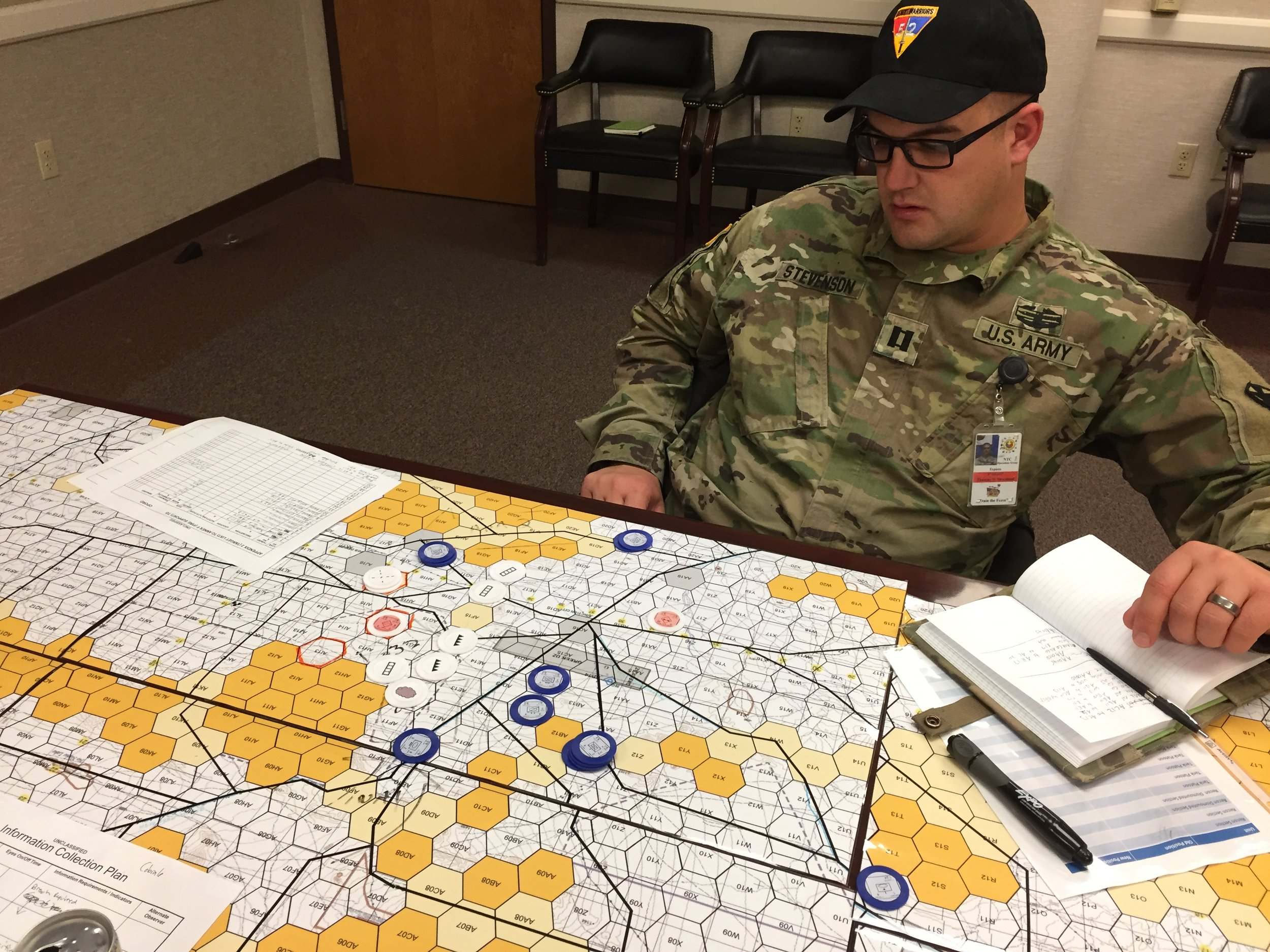 Double-blind tactical decision exercises, can serve as a tool to think and learn about the range of potential enemy courses of action, reconnaissance pull, and decision points.
