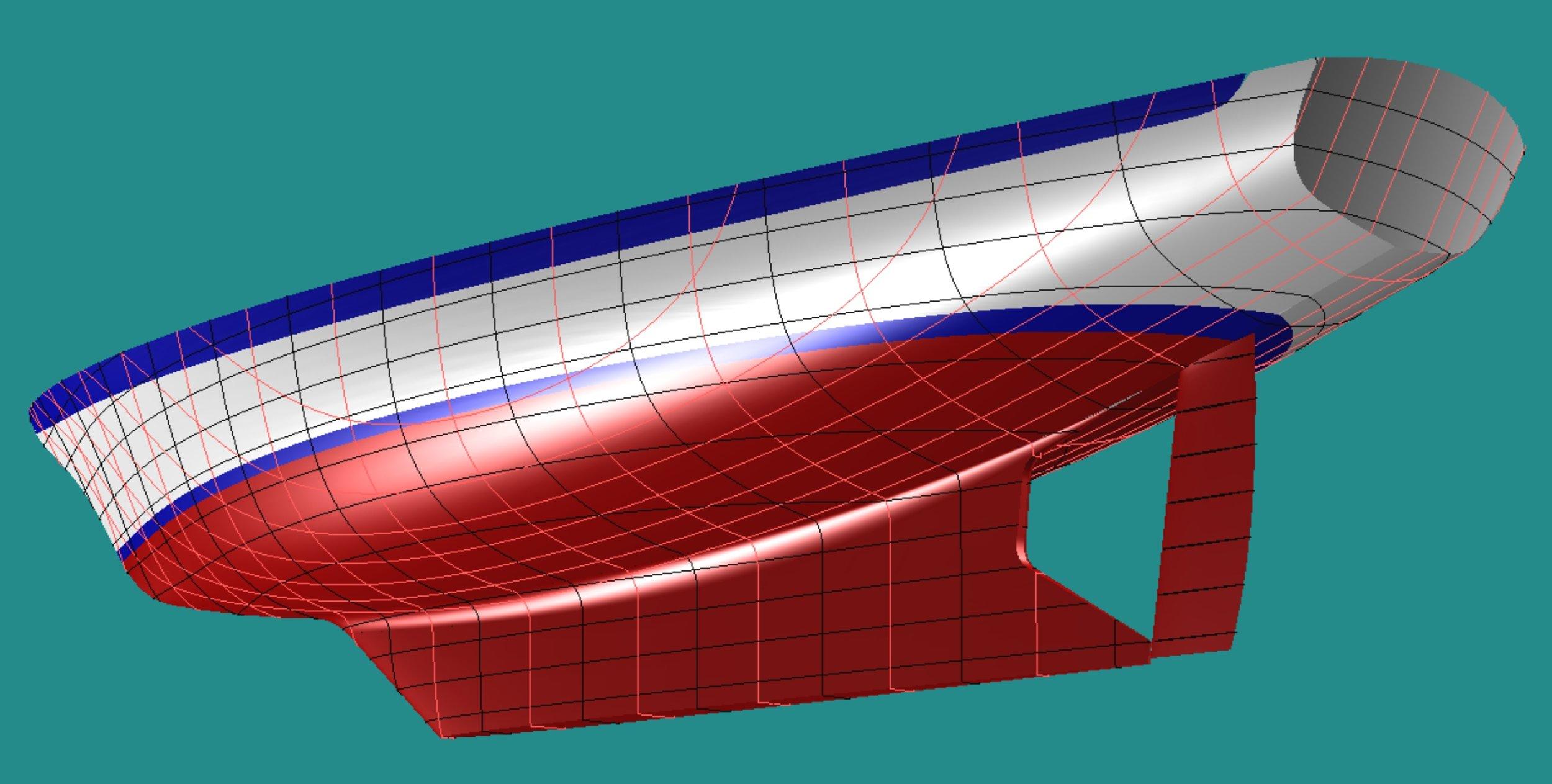 Modern, full keel hull provides good performance,