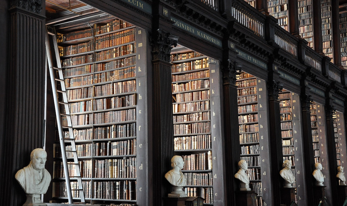 Trinity College library, photo by  Alex Block .