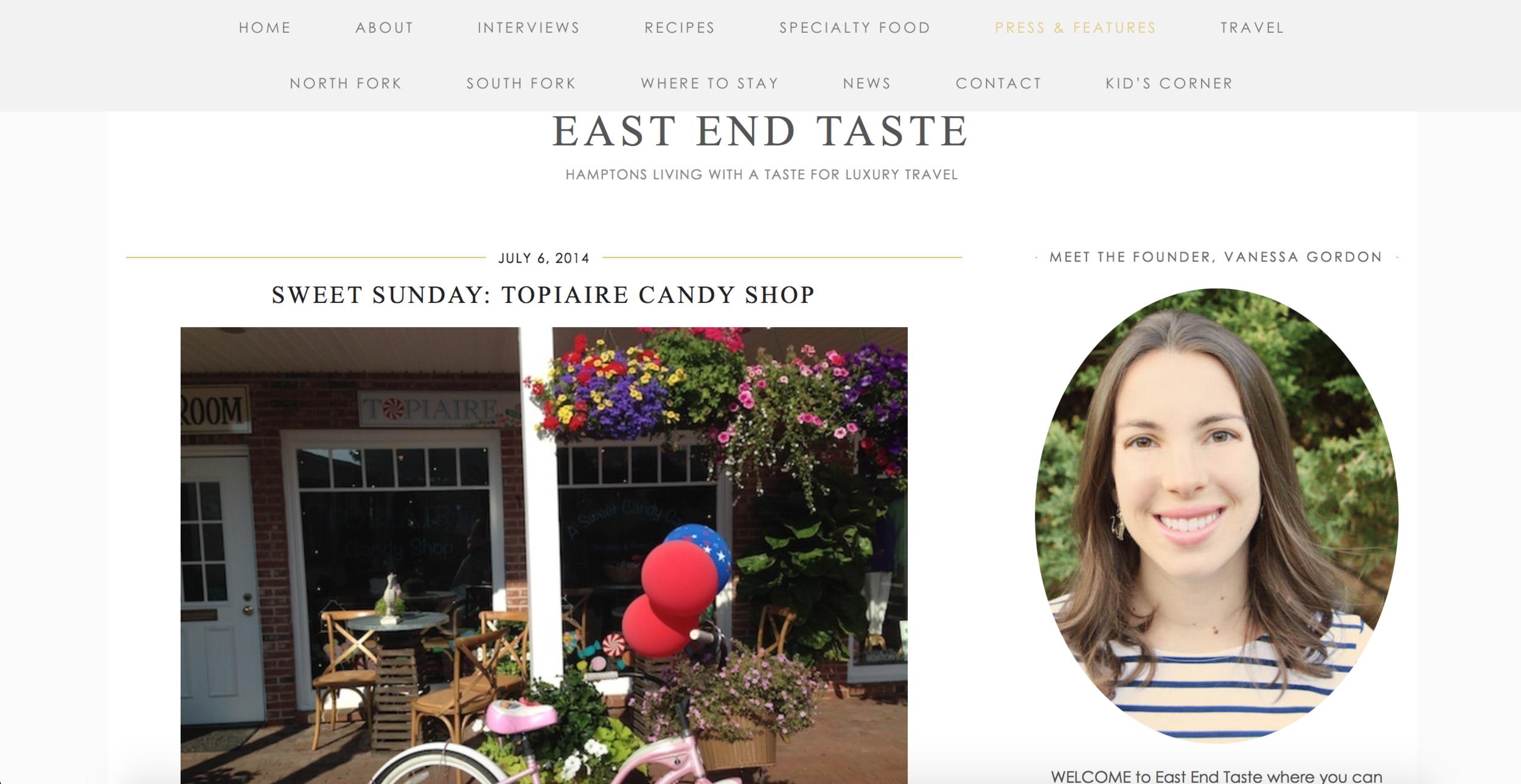 Article: East End Taste