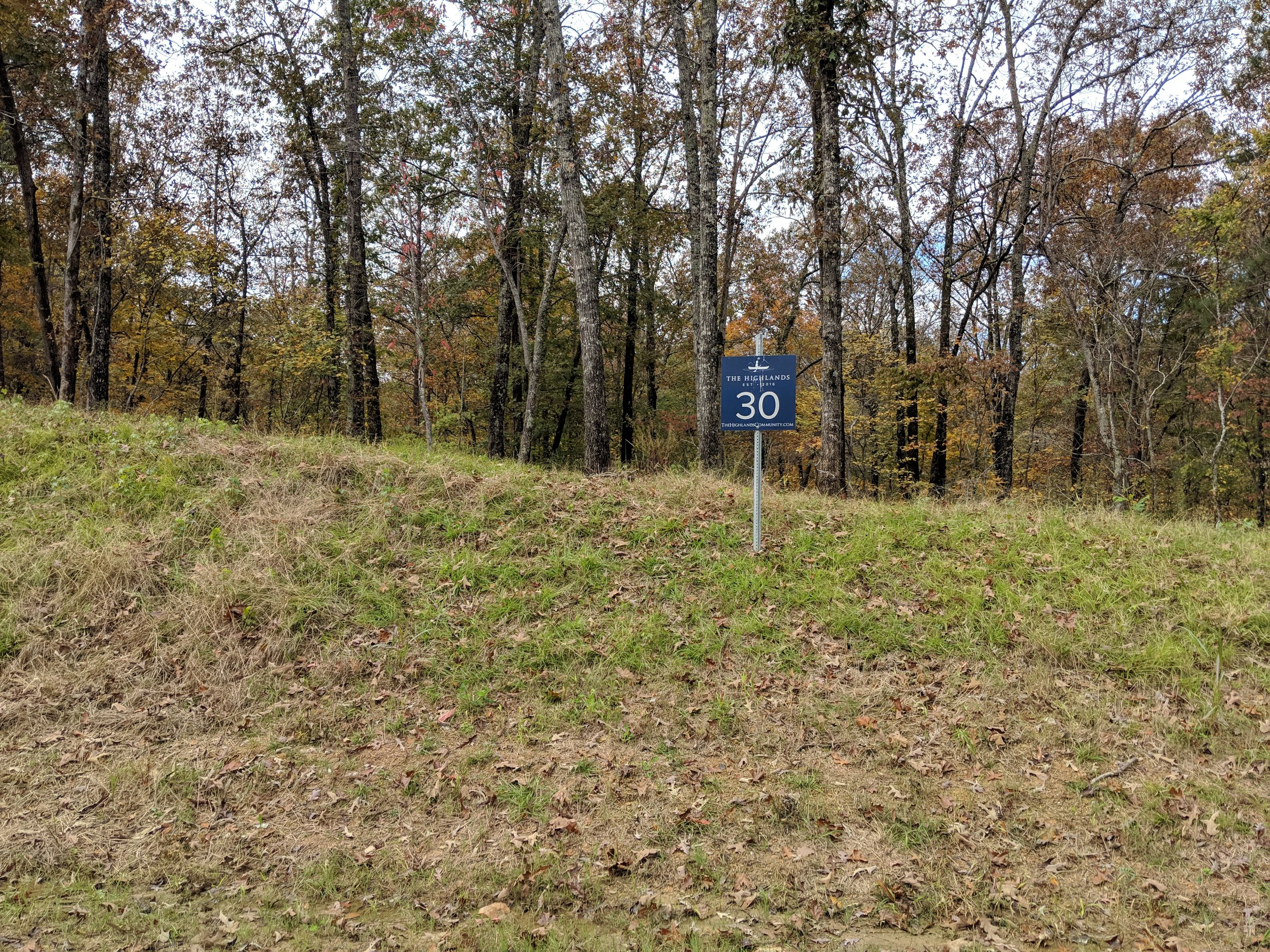 Homesite #30   List Price: $105,000  Size: 1.01 acres  Section: Chelsea  Street: Timberview Trail