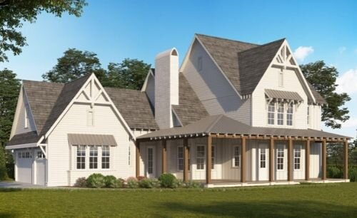 The Farmville Cottage - 5 bed · 4 bath · 3,545 sf3 car garage w/ optional MIL suite2 floors on a slab