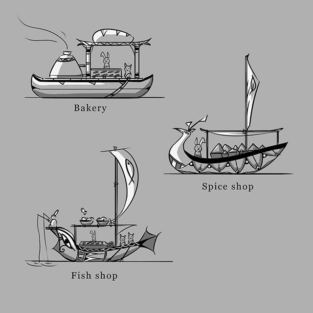 Egyptian Floating Shops 1/3 . . . #webcomic #bible #bookofmormon #conceptart #graphicnovel #comic #comics #illustration #drawing #instacool #anthro #lds #mormon #michaelmercerart #mikescrazyideas #fromthedust #egypt #boat