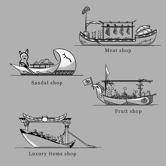 Egyptian Floating Shops 2/3