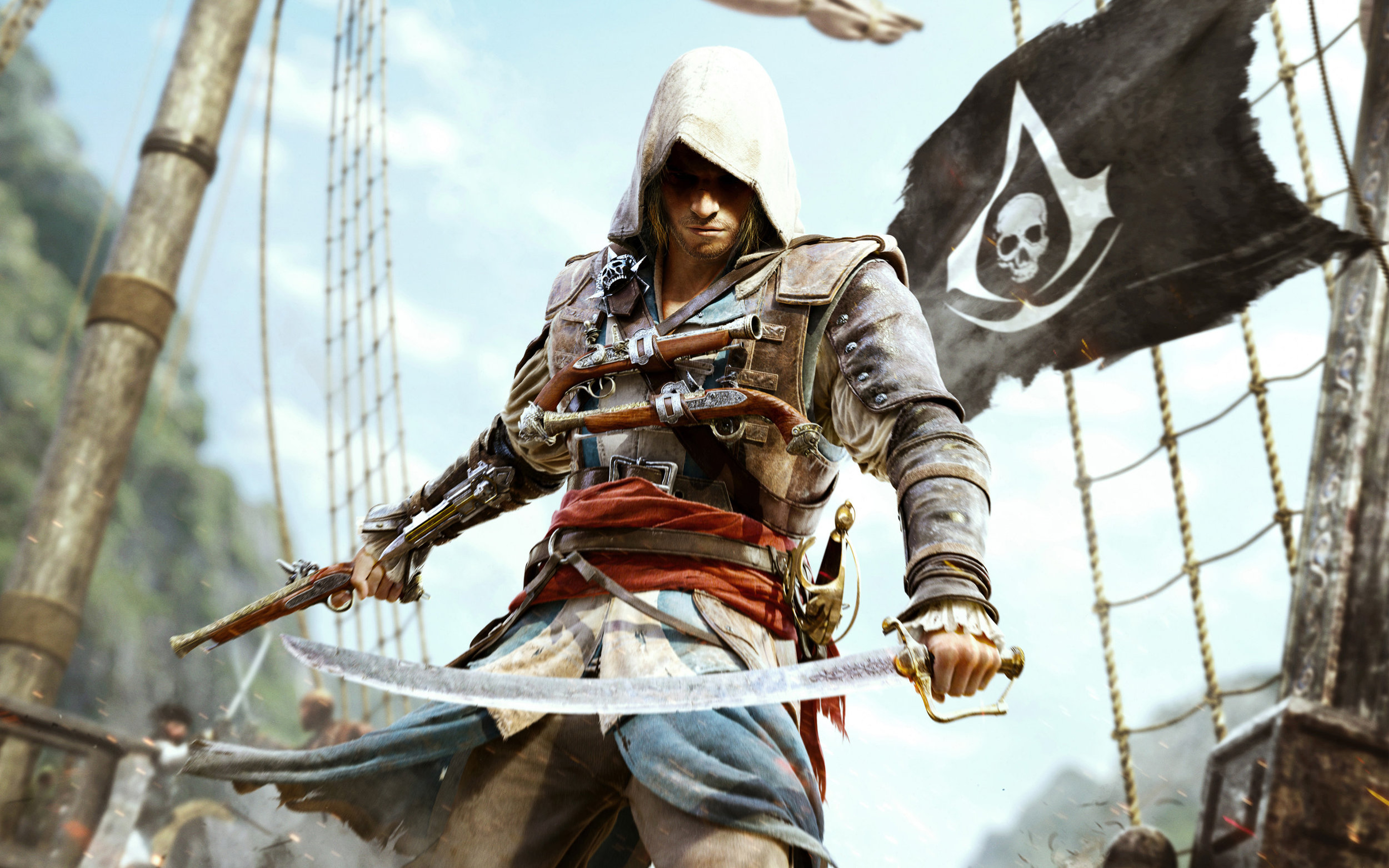Why, a white boy, why did Assassin's Creed need a Pirate theme? Thanks, Ubisoft.