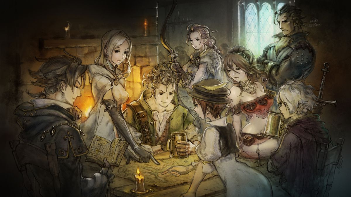 The promotional art suggested the Octopath eight would interact heavily. They don't.