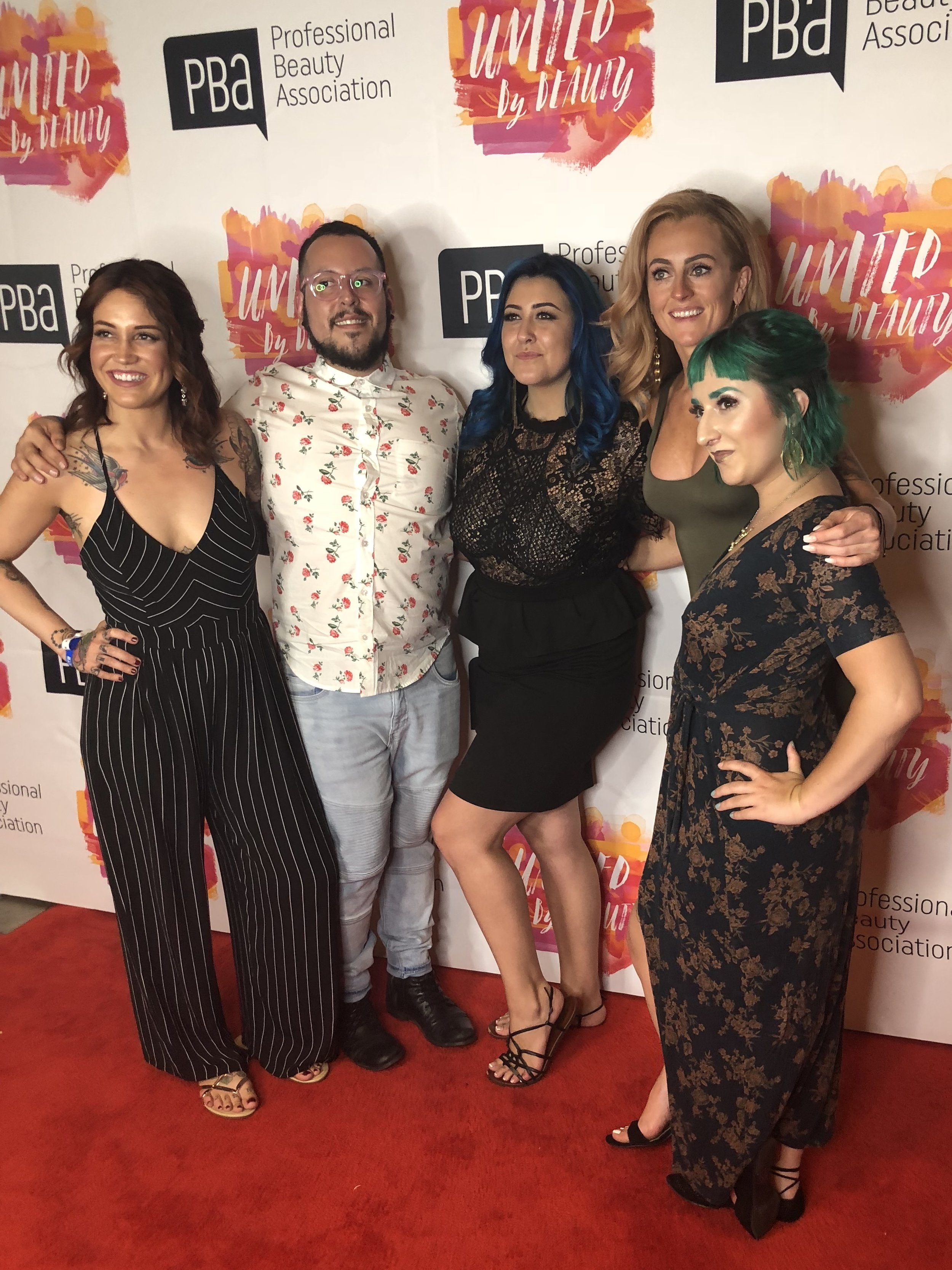 Oracle Salon Team at the North American Hairstyling Awards in Vegas