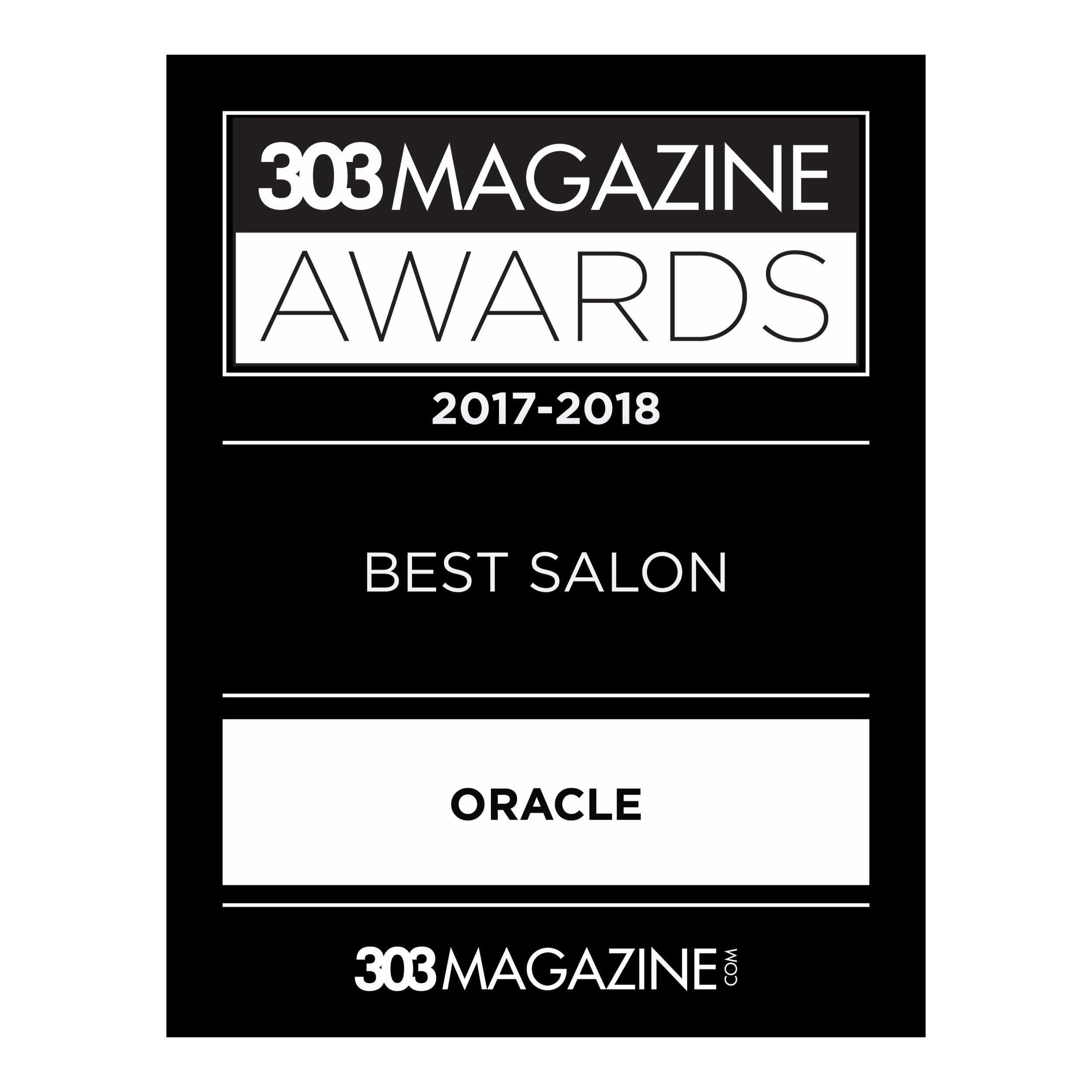 Oracle WON Best Salon 2018!