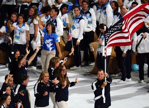 - Walking in the Opening Ceremonies at the 2011 Pan American Games in Guadalajara, Mexico