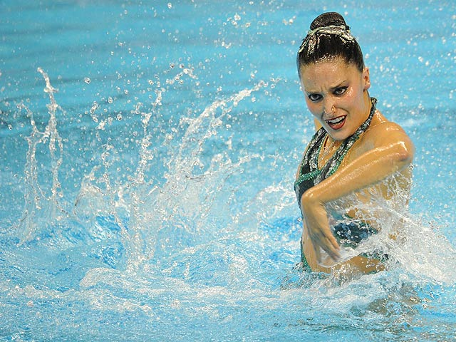 - Andrea competing in the solo event at the FINA World Championships