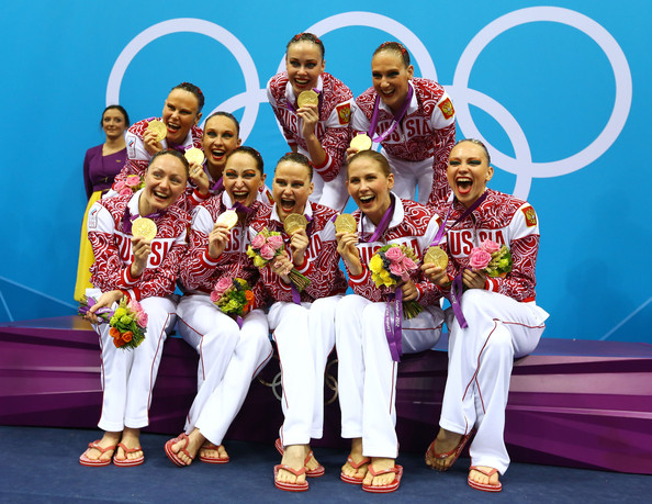 - Alla's (second from the bottom right) first Olympic medal in London 2012