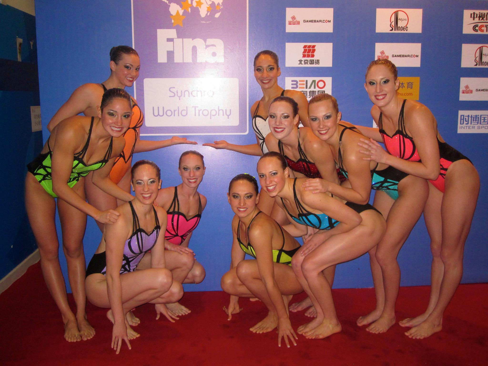 - After our combo swim at the 2011 World Trophy in Beijing.