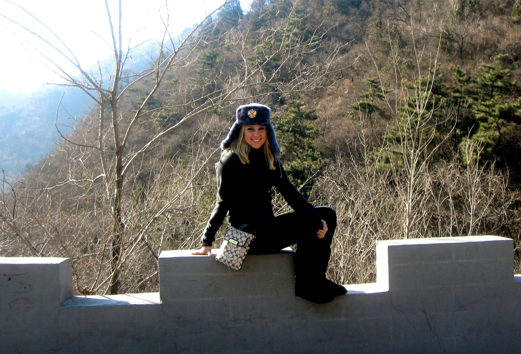 - Visiting the Great Wall of China a few days after my concussion.