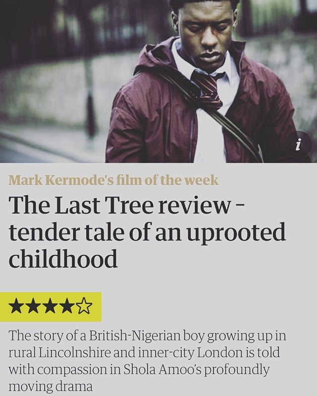 #thelasttreefilm is Mark Kermode's Film of the Week in the Guardian. Go check us out in your local cinema today 🙌🏿 #supportindiefilm