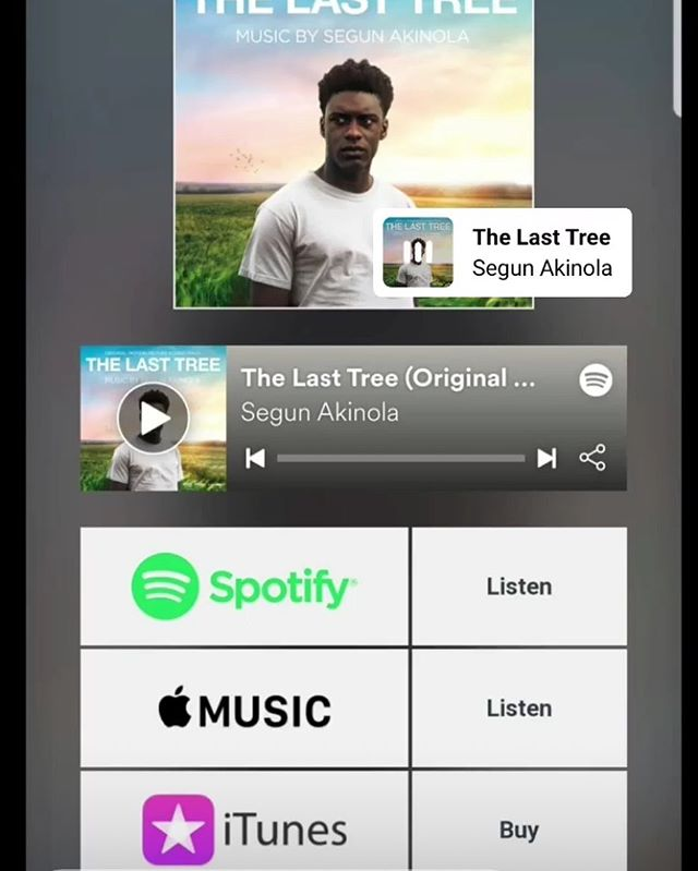 The soundtrack for #thelasttreefilm by legendary composer @segunakinolacomposer 🙌🏿 is out for sell. A must have for fans of the film which is still in cinemas 🔥🔥🔥🔥