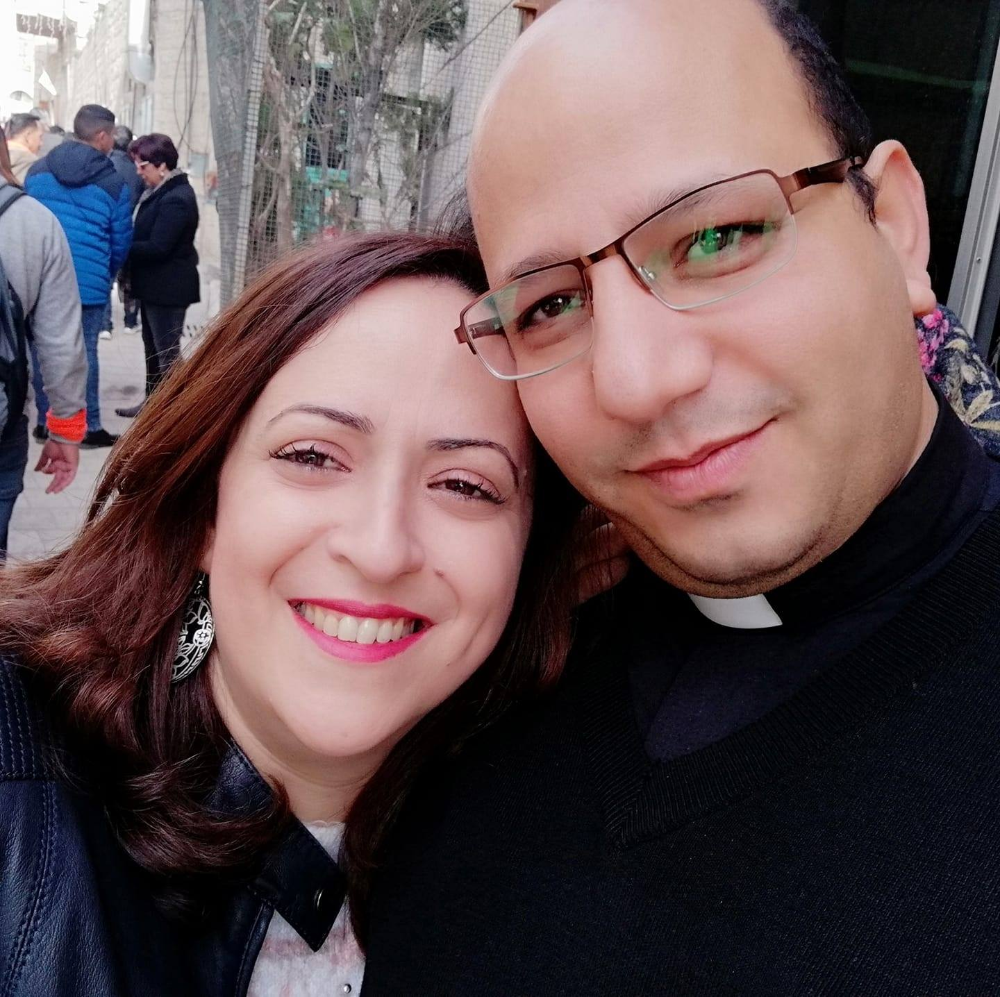 Pastor Imad Haddad with his Wife