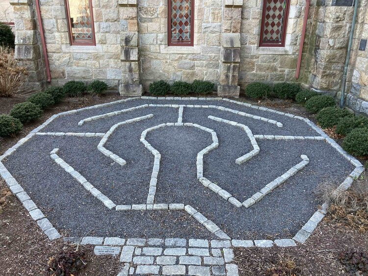 A small Labyrinth at St Peter's by the Sea in Narragansett, RI provided an opportunity to experiment