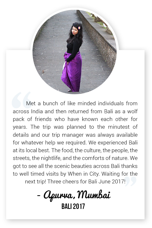 Solo Traveller from Mumbai on When in City Group Trip