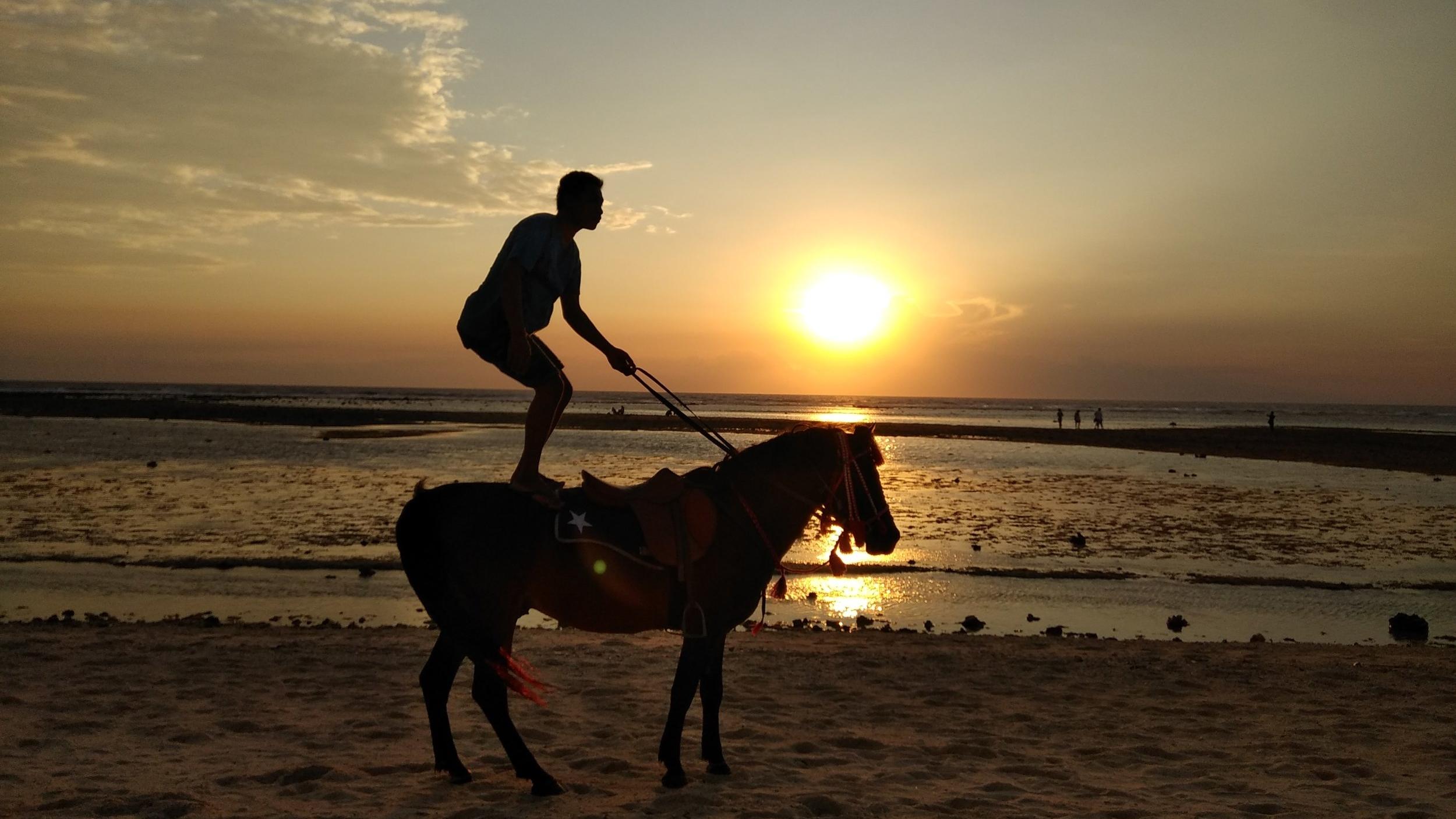 Gili Islands Horse Riding Sunset