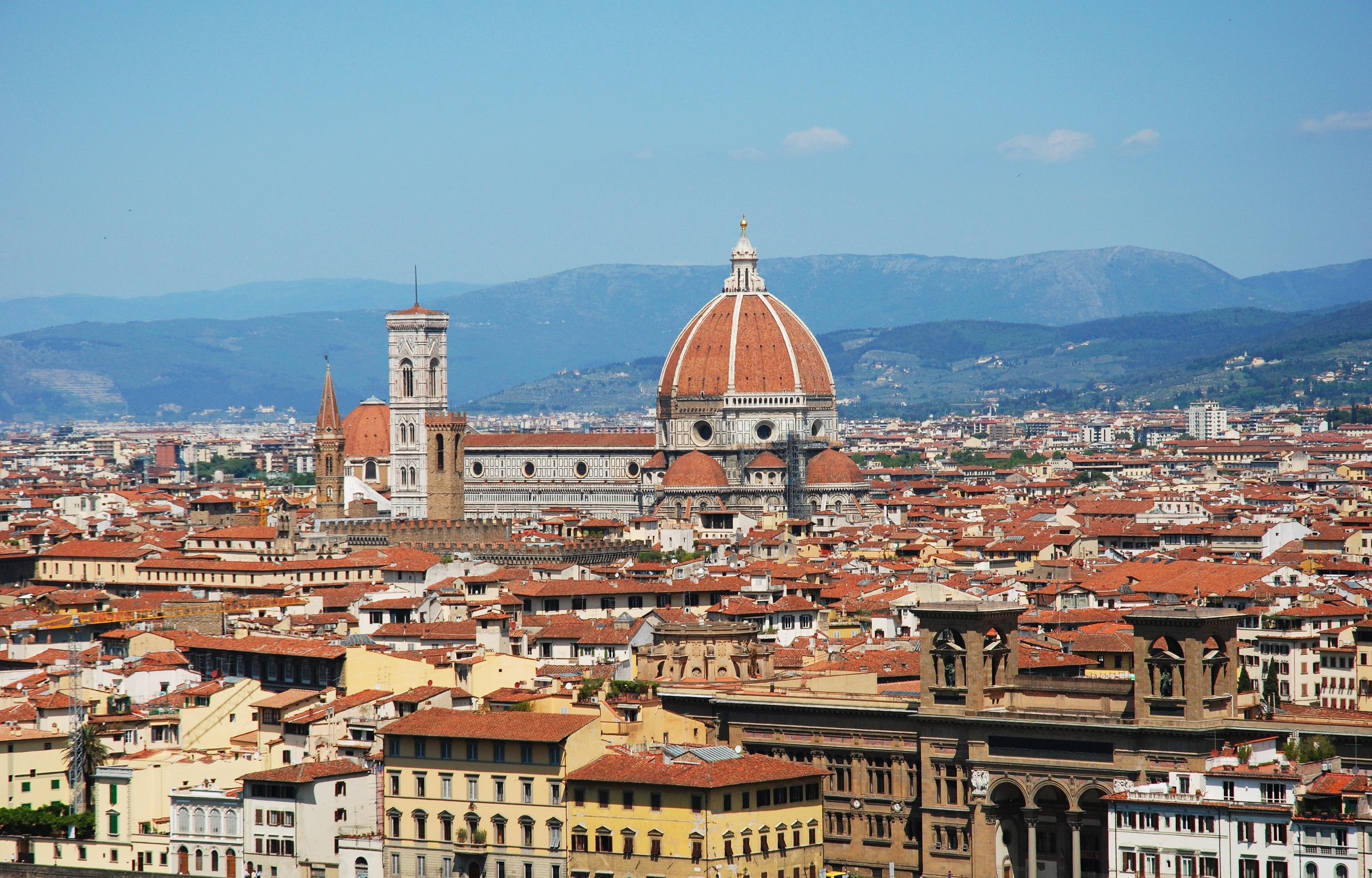 The beautiful city of Florence on a backpacking trip