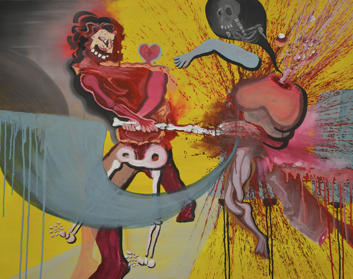 Blutgericht in Düsseldorf (Freitag, 10.03.2017) 2017  70x90cm  Oil on canvas