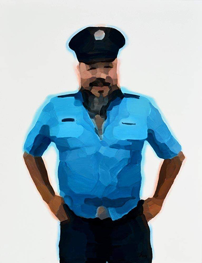 Policeman Ai Weiwei  116x89cm, oil on canvas