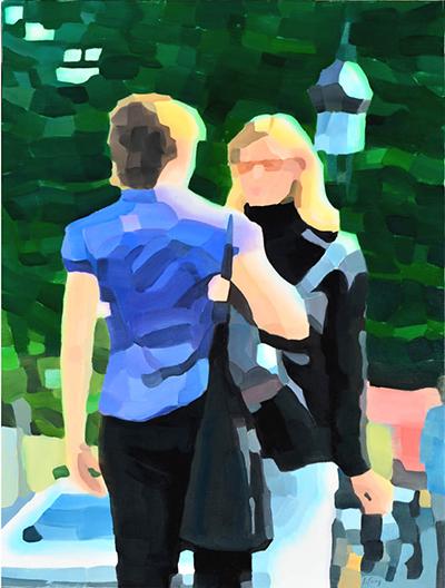 14.07.2013 Paris  130x97cm, oil on canvas