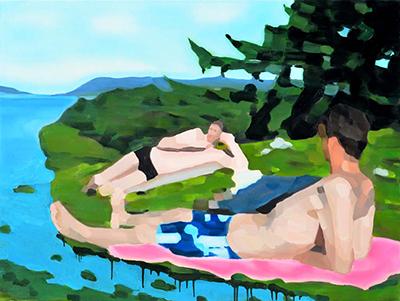 Eaux dormantes N°10  97x130cm, oil on canvas