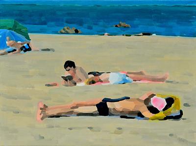 Plage N°13  97x130cm, oil on canvas