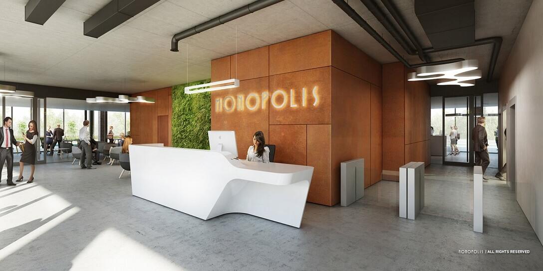 Budynek m2 - Nowy budynek usytuowany w północnej części kompleksu, bezpośrednio przy ulicy Kopcińskiego. Całkowita powierzchnia biurowa to 8.050 mkw. zlokalizowanych na dziesięciu kondygnacjach. Wysokość każdej z kondygnacji 2,74 m. Powierzchnia pięter od 600 mkw. do 1.200 mkw.