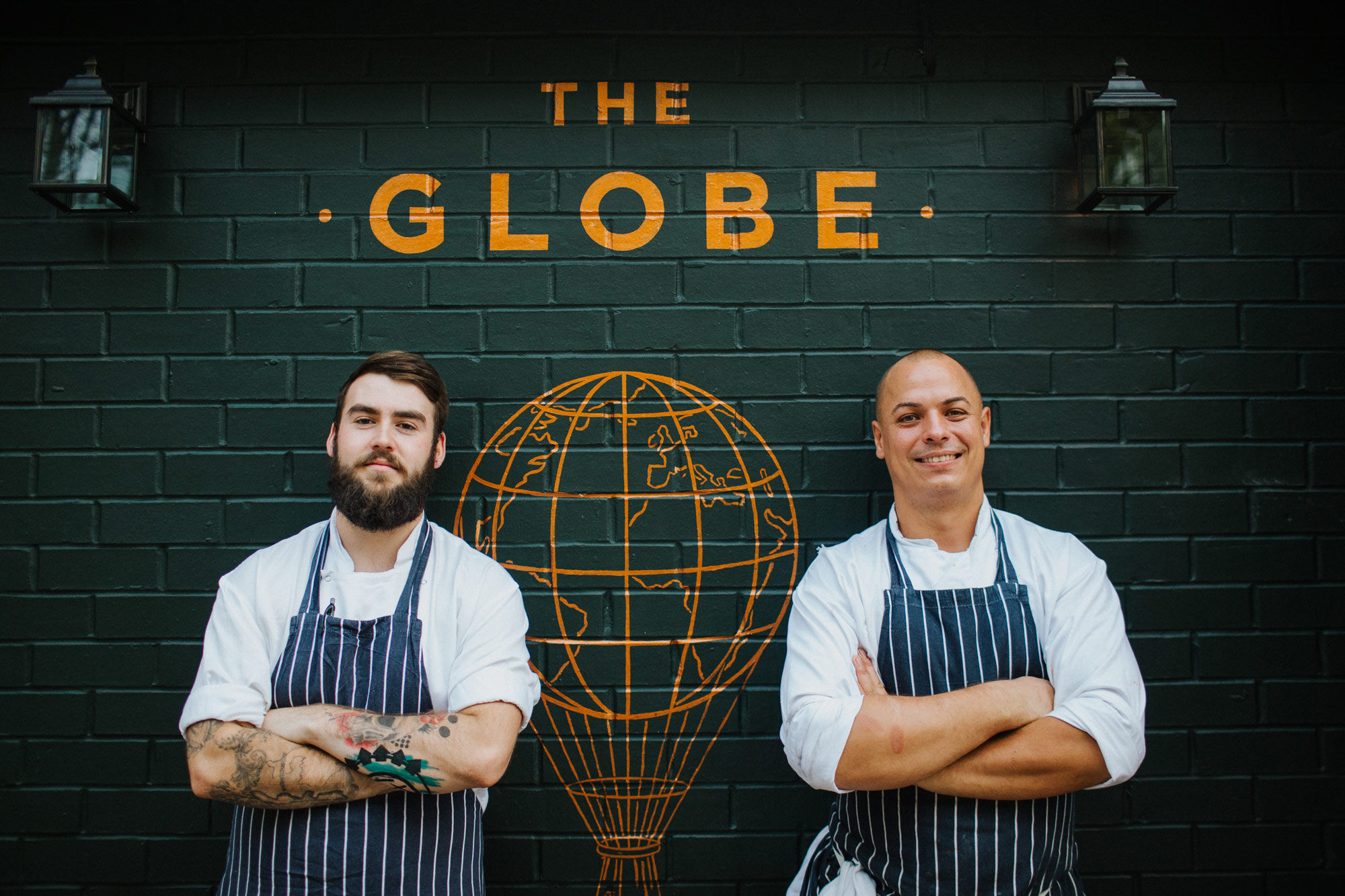 Chefs at The Globe pub, restaurant and hotel in Warwick.jpg