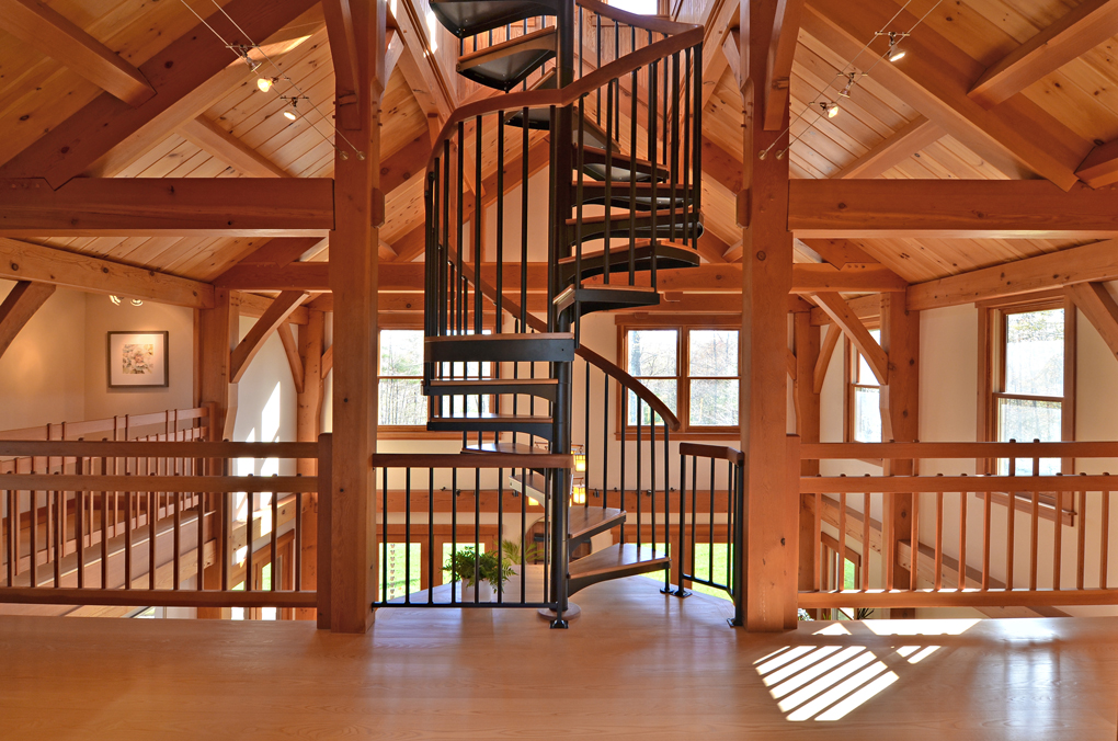 spiral-stair-timber-frame