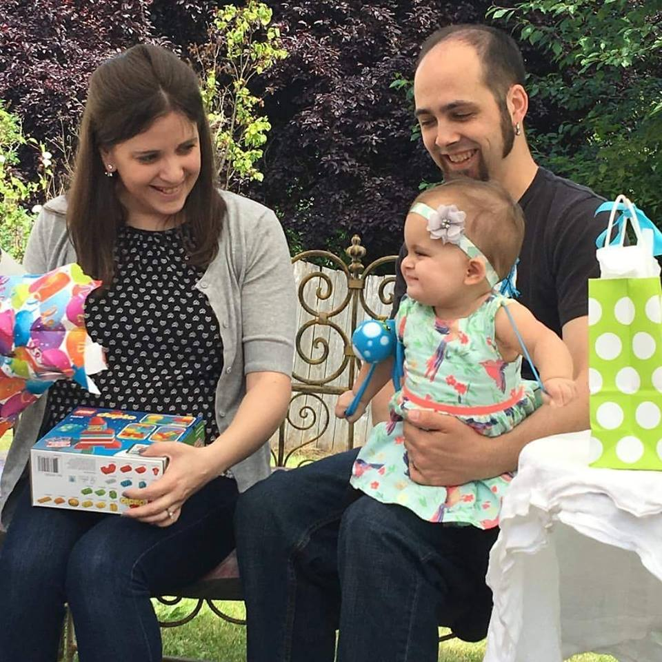 Leanne & Tyler with their daughter Eleanor at her first birthday.