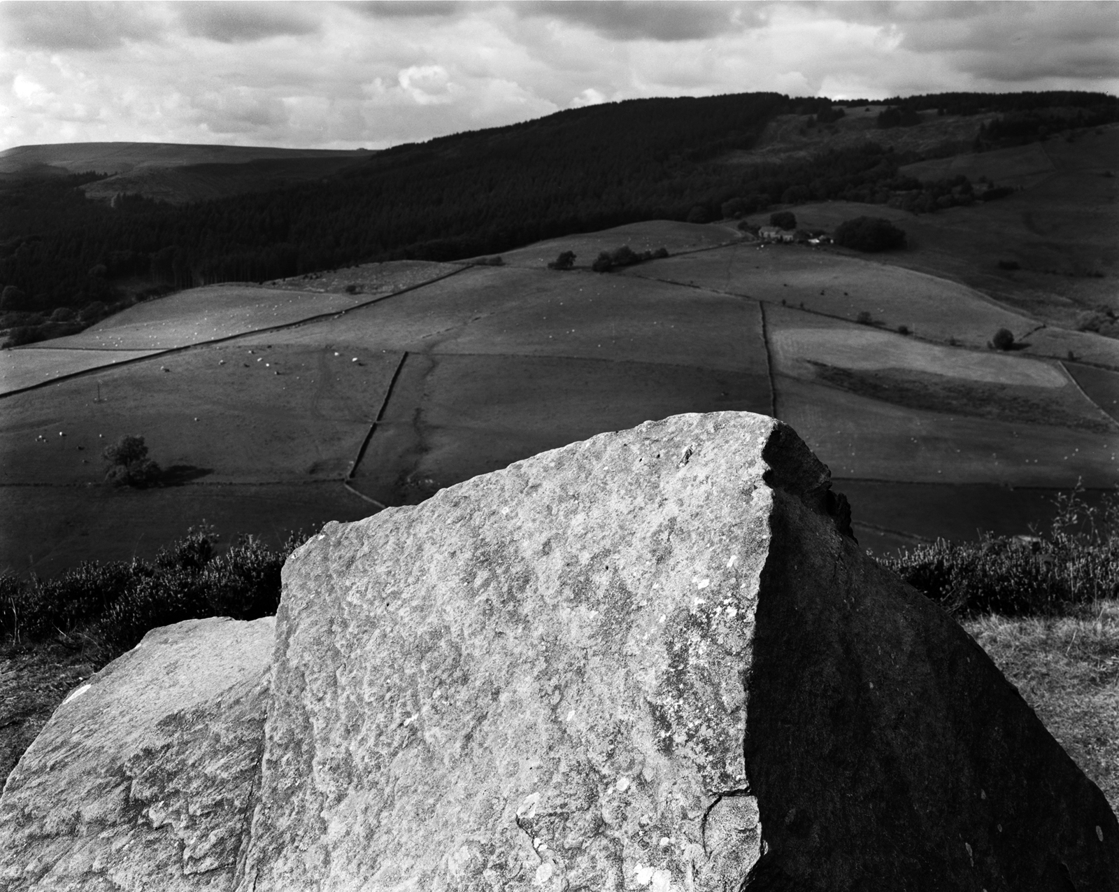 Image from  Shaped by Stone.  A view over Teggs Nose country park, countryside outside Macclesfield.  Photograph by Mario Popham