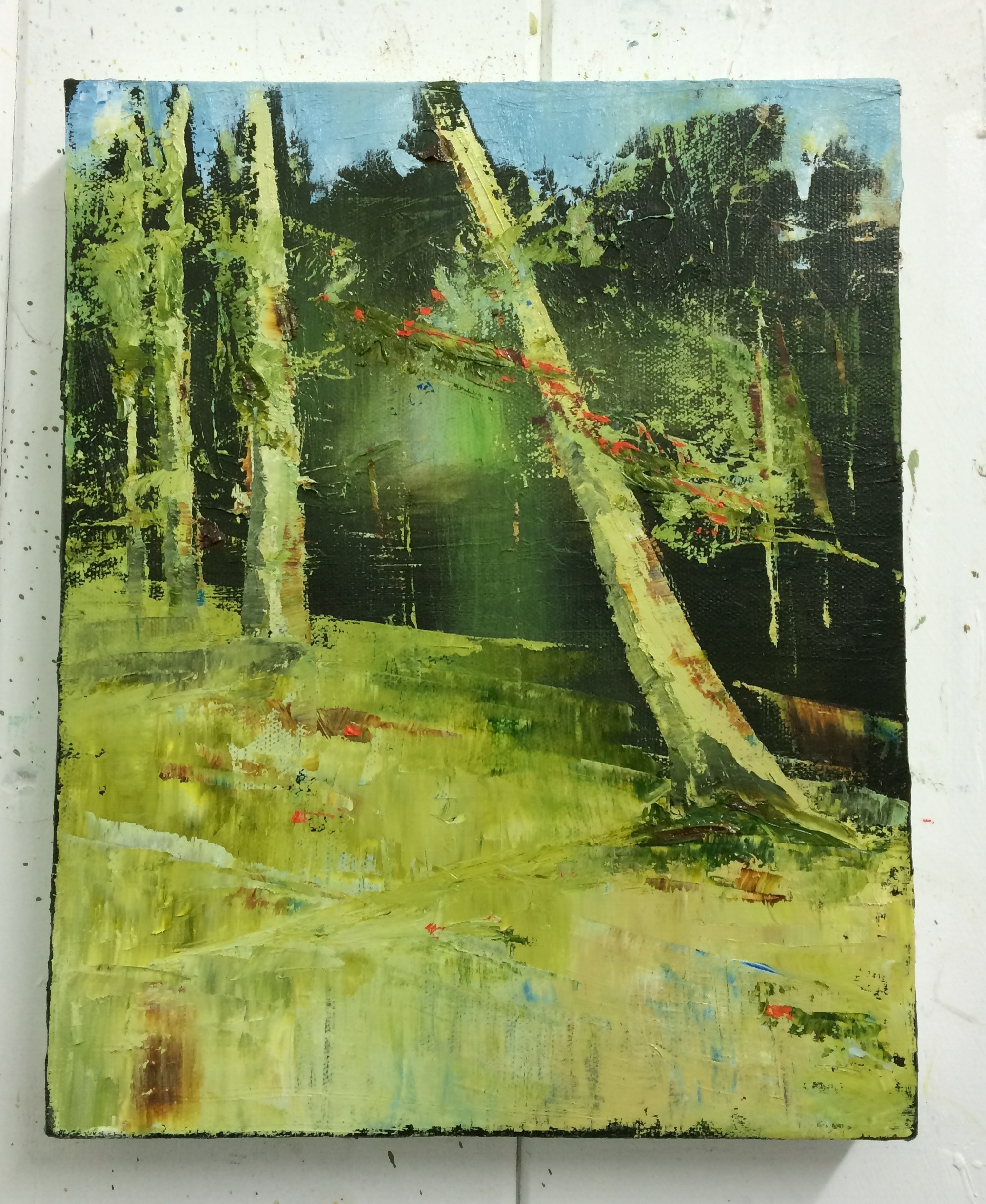 Lorraine Bewick - Glade  2016 30cm x 24cm Oil on Canvas